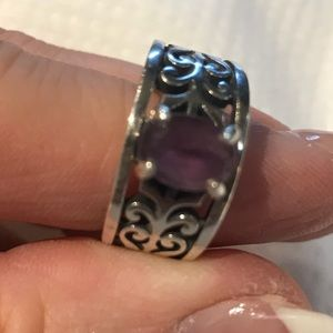 James Avery Adoree ring with amethyst